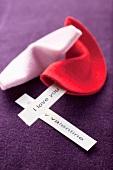 Felt, Valentine's Day fortune cookies