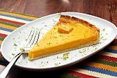 Pumpkin tart with lime zest