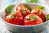 Tomatoes with rice stuffing