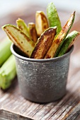 Fried courgette sticks