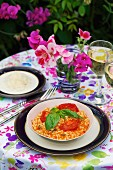 Tomato risotto with basil
