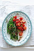 Green beans with tomatoes and anchovies