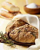 Pagnotta (wood oven bread with rosemary and sea salt, Italy)