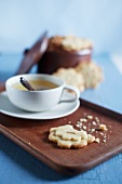 Tea and butter biscuits