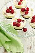 Chocolate and raspberry ricotta cheesecakes