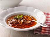 Liver spaetzle (noodle) soup