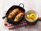 Braised cucumbers with potatoes