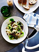 Celeriac & fennel salad with walnut dressing