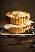 Two Mini Berry Pies; Stacked