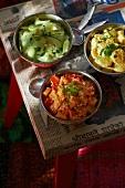 Various Indian salads