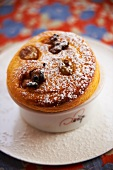 Pumpkin souffle with raisins and nuts