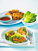 Crab cakes with sweetcorn