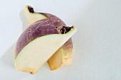 Two turnip quarters