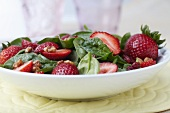 Spinach and Strawberry Salad with Walnuts and Cranberries