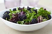 Organic Greens and Blackberry Salad
