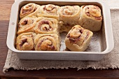Chelsea buns with cinnamon