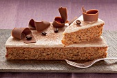 Carrot cake with coffee glaze