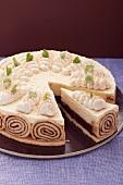 Plum and cinnamon layer cake