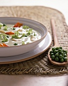 Zuppa di fave e piselli (bean and pea soup)
