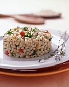 Pearl barley risotto with fresh herbs