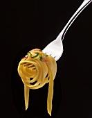 Tagliatelle al salmone (ribbon pasta with salmon, Italy)