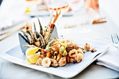 Fritto misto (fish and seafood platter, Italy)