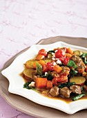 Vegetable stew with pork