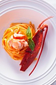 Spaghetti with crayfish
