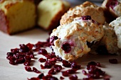 Biscuits mit getrockneten Cranberries