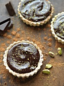 Chocolate Tartlets with Pistachios