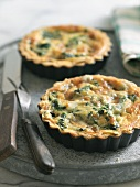 Two Spinach and Blue Cheese Quiches
