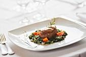 Medaglione di maiale con le bietole (medallions of pork with chard)