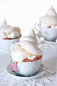Cupcakes with grapefruit compote, Grand Marnier cream and lemon meringues