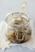 Pickled herring with garlic and marjoram (Christmassy)