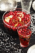 A punch of rum, dark beer, lemon juice, cranberries and redcurrants