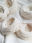 Meringue Cups on White Cloth