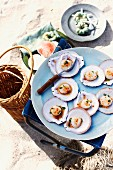 Scallops with ginger and lemongrass for a tropical Christmas picnic