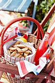 Cantuccini in a picnic basket