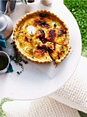 Goat's cheese tart with beetroot