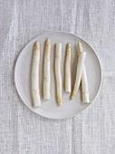 White asparagus stalks