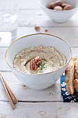 Cheese dip with nuts