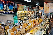 A cheese counter in a food shop in Michigan, USA