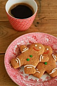 Gingerbread men and a cup of coffee