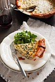 Salmon quiche with spinach