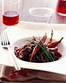 Rindfleischtopf mit Karotten und Schnittlauch
