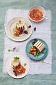 Spargelwrap mit Tomatensalsa