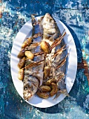 Grilled sea bass with potatoes