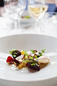 Roasted beetroot and spring onions (Scandinavia)