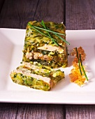 A terrine of leek and goose liver