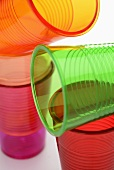 Several coloured plastic cups